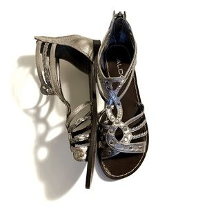 Aldo Metallic Gladiator Sandals